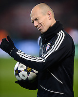 FUSSBALL  CHAMPIONS LEAGUE  ACHTELFINALE  HINSPIEL  2012/2013      FC Arsenal London - FC Bayern Muenchen       19.02.2013 Arjen Robben (FC Bayern Muenchen)