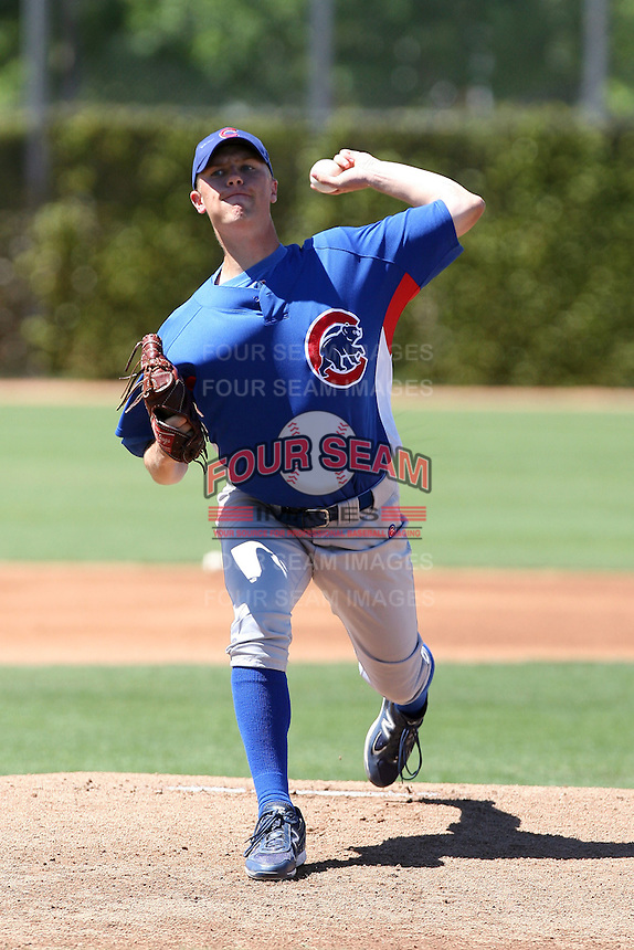 Ben Jokisch of the Chicago Cubs plays in a minor league spring training game against the Colorado Rockies at the Cubs complex on March 31, 2011  in Mesa, Arizona. .Photo by:  Bill Mitchell/Four Seam Images.