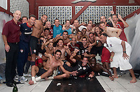 Team USA celebrates after clinching a spot in the  2010 World Cup after defeating Honduras in 3-1 during CONCACAF qualifying in San Pedro Sula, Honduras, October 10, 2009.