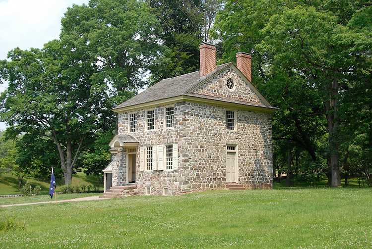 Valley Forge National Historical Park.  Geo Washington's Headquarters..Philadelphia, Pennsylvania, PA USA.  Photo copyright Lee Foster, 510-549-2202, lee@fostertravel.com, www.fostertravel.com.  Photo 369-30334