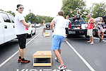17 August 2013: U.S. fans tailgate before the game. The United States Men's National Rugby Team played the Canada Men's Nationa Rugby Team at Blackbaud Stadium in Charleston, South Carolina in the first leg of their 2015 Rugby World Cup Qualifying Series. Canada won the game 27-9.