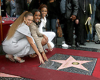 Destiny's Child.(Beyonce Knowles, Michelle Williams, Kelly Rowland).Destiny's Child receive Star on the  Hollywood Walk of Fame.Hollywood & Highland.Los Angeles, CA.March 28, 2006.©2006 Kathy Hutchins / Hutchins Photo....