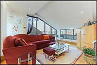 BNPS.co.uk (01202 558833)<br /> Pic: KnightFrank/BNPS<br /> <br /> Best views in London...<br /> <br /> Iconic buildings such as the Shard, the BT Tower and St Paul's Cathedral are all visible from this extraordinary property while Tower Bridge is literally a stone's throw. <br /> <br /> The lavish &pound;13million penthouse, called The High Command, is situated atop a historic brewing warehouse once home to Courage Brewery on the banks of the Thames. <br /> <br /> Perched right at the top of the former warehouse and and arranged over five floors, the 4280sqft pad is designed to make the most of the unrivalled views<br /> <br /> The property boasts a series of terraces and a multitude of floor to ceiling windows throughout.