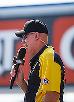 Sep 18, 2016; Concord, NC, USA; NHRA announcer Alan Reinhart during the Carolina Nationals at zMax Dragway. Mandatory Credit: Mark J. Rebilas-USA TODAY Sports