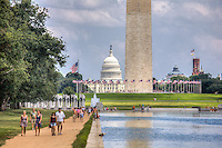 US Capitol, Washington Monument, WWII Memorial,  National Mall Washington DC