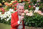 The late Lynda Bellingham's husband, Michael Pattemore with the new Roses named after Lynda. &quot; The Lynda Bellingham Rose&quot; at the RHS Hampton Court Flower show, London 29.6.15<br /> <br /> <br /> Bethany Clarke / RHS