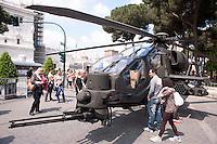 Roma 4  Maggio 2011. Mezzi militariin piazza Venezia per i 150° dell'anniversario della costituzione dell'Esercito Italiano..L'elicottero A129 Mangusta..