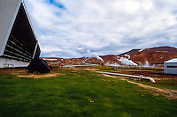 Iceland. Geothermal Power station at Krafla.