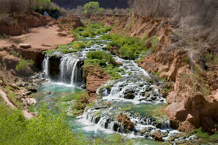 After massive flooding in 2009 these new falls were formed on Havasu Creek just below Supai Village.