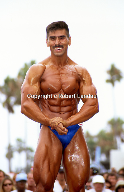 Body building competition at Muscle Beach in Venice, CA