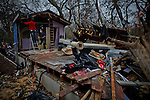Residents at Great Kills still having problems at their Neighborhood affected by the hurricane Sandy and Nor'easter storm during their pass in New York and New Jersey, United States. 10/11/2012. Photo by Eduardo Muno Alvarez / VIEWpress