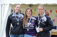 KAATSEN: SINT JACOB: 19-06-2016, Dames Hoofdklasse Vrije formatie, 2e prijs winnaars Rianne Vellinga, Maaike Osinga, en Aukje van Kuiken, ©foto Martin de Jong