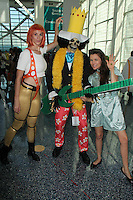 Bennett Cousins, Alicia Arden and cosplayer<br /> at Anime Expo 2014 Day 2, Los Angeles Convention Center, Los Angeles, CA 07-04-14<br /> David Edwards/DailyCeleb.com 818-249-4998
