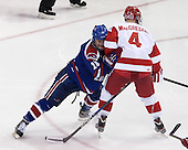 Jake Suter (UML - 28), Patrick MacGregor (BU - 4) - The visiting University of Massachusetts Lowell River Hawks defeated the Boston University Terriers 3-0 on Friday, February 22, 2013, at Agganis Arena in Boston, Massachusetts.