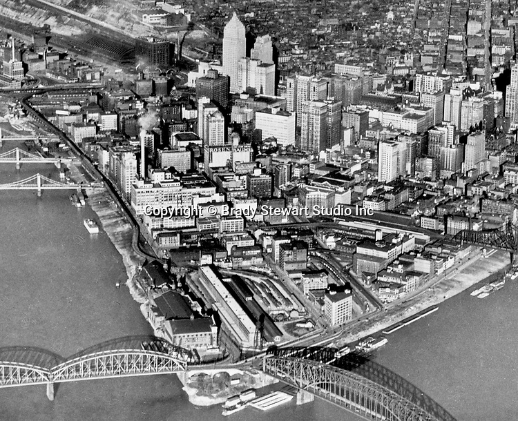 Pittsburgh PA - View of the City of Pittsburgh from an airplane 1933.