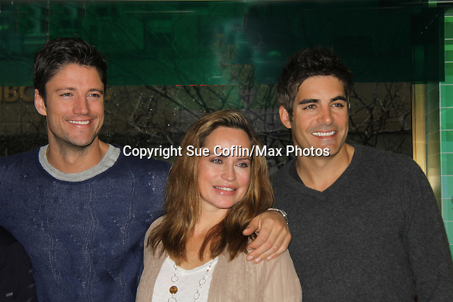 """Days of our Lives cast James Scott, Crystal Chappell and Galen Gering at a book signing for """"Days Of Our Lives: A celebration in Photos - 45 years"""" on February 25, 2011 at the NBC Experience Store, Rockefeller Center, New York City, New York. (Photo by Sue Coflin/Max Photos)"""