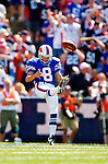 11 September 2005: Brian Moorman, punter for the Buffalo Bills, during a game against the Houston Texans on September 11, 2005.  The Bills, wearing their 60s throwback uniforms, defeated the Texans 22-7, winning their first game of the season at Ralph Wilson Stadium in Orchard Park, NY.<br />