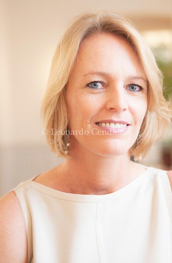 Sabine Schultz, editor Neri Pozza, Milano. Maggio, 2012. © Leonardo Cendamo