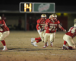 Lafayette High's Morgan Klepzig (71) and Lafayette High's Demarkous Dennis (5) vs. Louisville in MHSAA 4A playoff action at William L. Buford Field in Oxford, Miss. on Friday, November 18, 2011. Lafayette won 28-6 and will advance to play Amory.
