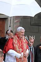 Pope Benedict XVI  near Aosta, northern Italy, Monday, July 24, 2009.