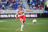 Chris Albright (3) of the New York Red Bulls during a Major League Soccer (MLS) match against Real Salt Lake at Red Bull Arena in Harrison, NJ, on October 09, 2010.