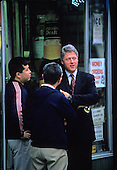 United States President-elect Bill Clinton visits some small businesses along Georgia Avenue, N.W. in Washington, D.C. on November 18, 1992..Credit: Jeff Markowitz / Pool via CNP