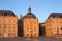 Place de la Bourse. Bordeaux city, Aquitaine, Gironde, France