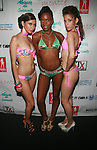 Carla, Courtney and Legni   Backstage at Swimwear Sunrise Fashion Show Held at New York Aqua Bar & Lounge inside Grace Hotel, NY 7/27/12