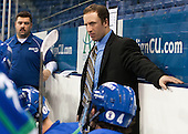 Andy Boschetto (Salve Regina - Head Coach) - The Wentworth Institute of Technology Leopards defeated the Salve Regina University Seahawks 2-1 on Tuesday, November 12, 2013, at Tsongas Arena in Lowell, Massachusetts.