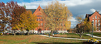 View of Williams Art Hall from the UVM Green, Fall UVM Campus