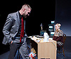 Belarus Free Theatre<br /> Time of Women by Nicolai Khalezin and Natalia Kaliada<br /> at The Young Vic Theatre, London, Great Britain <br /> press photocall <br /> 9th November 2015 <br /> <br /> Kiryl Kanstantsinau<br /> Maryna Yurevich<br /> <br /> Photograph by Elliott Franks <br /> Image licensed to Elliott Franks Photography Services