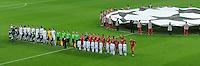 FUSSBALL   CHAMPIONS LEAGUE   SAISON 2011/2012  Achtelfinale Rueckspiel 13.03.2012 FC Bayern Muenchen (re) - FC Basel  Teamaufstellung der beiden Mannschaften
