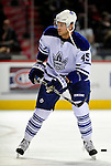 10 April 2010: Toronto Maple Leafs' left wing forward Viktor Stalberg warms up prior to a game against the Montreal Canadiens at the Bell Centre in Montreal, Quebec, Canada. The Maple Leafs defeated the Canadiens 4-3 in sudden death overtime. Mandatory Credit: Ed Wolfstein Photo