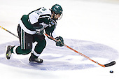 Nick Sucharski (Michigan State - Toronto, ON) carries the puck up ice. The Michigan State Spartans defeated the Boston College Eagles 3-1 (EN) to win the national championship in the final game of the 2007 Frozen Four at the Scottrade Center in St. Louis, Missouri on Saturday, April 7, 2007.