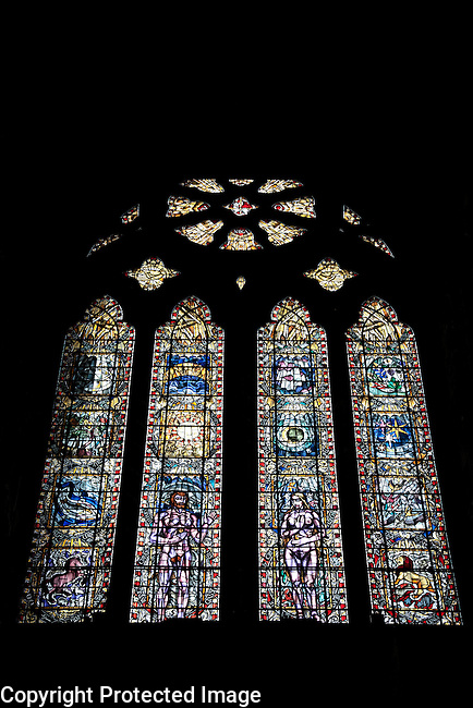 The Creation by Francis Spear Stained Glass Window in Glasgow Cathedral, Scotland
