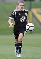 BOYDS, MARYLAND - July 21, 2012:  Ashley Herndon (15) of DC United Women playing aginst the Virginia Beach Piranhas during a W League Eastern Conference Championship semi final match at Maryland Soccerplex, in Boyds, Maryland on July 21. DC United Women won 3-0.