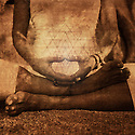 Detail of hands in meditation illustrating the energy of yantra in mudra.