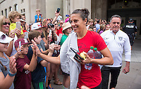 Ottawa, Canada - June 27, 2015:  The USWNT left Ottawa on their way to Montreal for the semifinal game in the FIFA Women's World Cup at Ottawa Stadium
