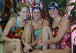 Victoria BC World swimming trials Julie Wilkinson, Alexa Komarnycky. Stephanie Horner