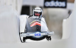 16 December 2010:  Manuel Machata pilots a 2-man bobsled for Germany in a training run prior to the Viessmann FIBT World Cup Championships in Lake Placid, New York, USA. Mandatory Credit: Ed Wolfstein Photo