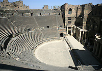 Roman theatre with 12,000 seats, 102m wide, 150-200 AD, Bosra, Syria Picture by Manuel Cohen
