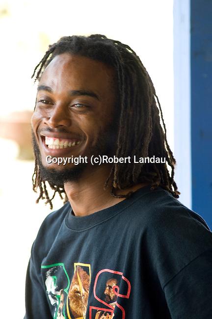 Jamaican man with dread locks