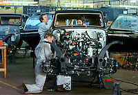 Panther cars being produced by Panther Westwind, makers of speciality automobiles, at their factory in Surrey in 1978