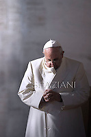 Pope Francis during his weekly general audience in St. Peter square at the Vatican, Wednesday.11 December  2013