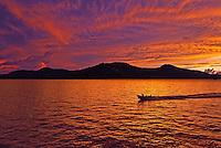 Sunset over Truk Lagoon Micronesia