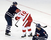 Tyler Turcotte (Toronto - 2), Justin Courtnall (BU - 19) - The Boston University Terriers defeated the visiting University of Toronto Varsity Blues 9-3 on Saturday, October 2, 2010, at Agganis Arena in Boston, MA.