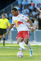 Juan Agudelo (17) Red Bulls ina ction...Sporting Kansas City defeated New York Red Bulls 2-0 at LIVESTRONG Sporting Park, Kansas City, Kansas.