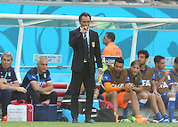 Italy coach Cesare Prandelli shows a look of dejection