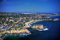 Laguna Beach, CA, Whale Island, Shell Cove, Aerial View, Coast, Waterfront, Luxury Home's Cliffs, Bluffs, Ocean, Waves