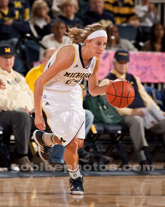 University of Michigan women's basketball beat Indiana State University 72-44 at Crisler Arena in Ann Arbor, Mich., on December 17, 2011.